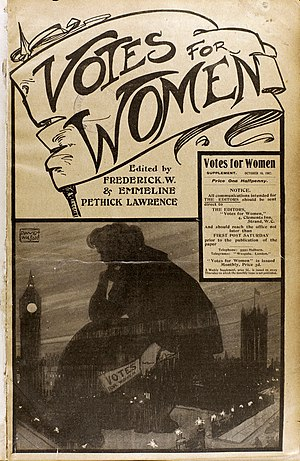 Emmeline Pethick-Lawrence, Baroness Pethick-Lawrence - Image: Votes for Women newspaper 1907 (22797474871)