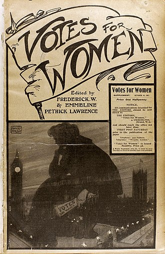 Votes for Women (newspaper) - Votes for Women supplement of 10 October 1907