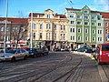 Vysočanská, tramvajová smyčka, vjezd.jpg