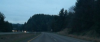 Washington State Route 8 - The expressway portion of SR 8 going eastbound towards US101.