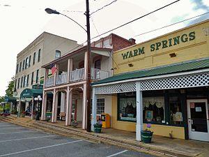 Warm Springs, Georgia - Broad Street in Warm Springs.