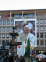 Cologne, Germany welcomes Pope Benedict XVI. (Image could use some cropping...)