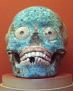 WLA lacma Mosaic Skull Mixteca-Puebla Style