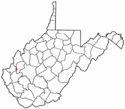 Location of Culloden, West Virginia