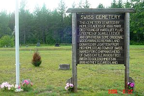 Friedhof der Town of Swiss