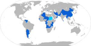 WZ-551 - Map of WZ-551 operators in blue, with licensed variants in teal