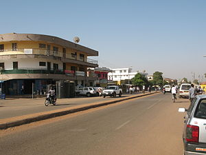 Wa, Ghana - View of a high street in Wa