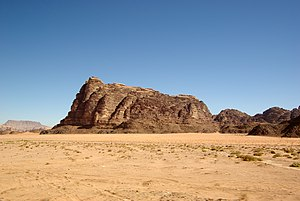"English: Wadi Rum, the ""Seven Pillars of ..."