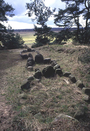 Pomerania during the Early Middle Ages - Stone ships at Altes Lager Menzlin