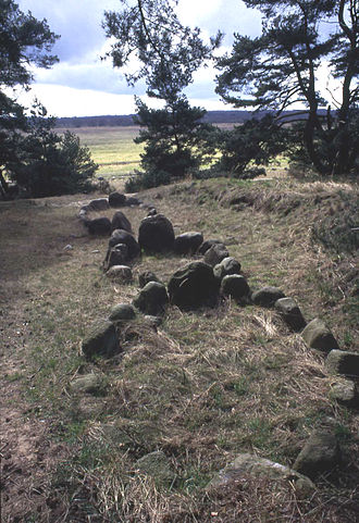 History of Pomerania - Stone ships at the site of an early medieval Scandinavian settlement, Altes Lager Menzlin near Anklam