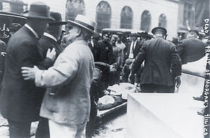 Wall Street bombing - The September 16 Wall Street bomb killed 38 people, the city's worst disaster since the 146 deaths in the 1911 Triangle Shirtwaist Factory fire.
