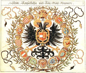 Coats of arms of the Holy Roman Empire - Great Coat of arms of emperor Joseph II, ca. 1765)