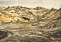 War Drawings by Muirhead Bone- the Quarry near Mouquet Farm Art.IWMREPRO00068428.jpg