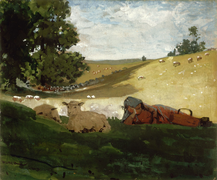 Warm Afternoon (Shepherdess) by Winslow Homer, 1878.png