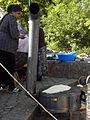 Wasserweltfest 2012 - Backen eines Kıymalı Gözleme auf einem Sac.jpg