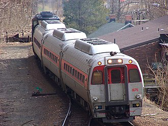 Budd SPV-2000 - Waterbury Branch train with Constitution Liner coaches in 2006