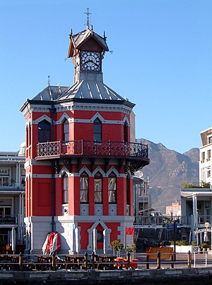 Victoria & Alfred Waterfront - Image: Waterfront Clocktower (Cape Town)