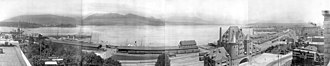 Port of Vancouver (1964–2008) - Panorama of Vancouver's waterfront (1910).