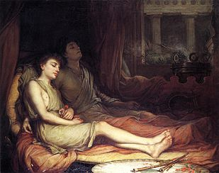 Hypnos and Thanatos, Sleep and His Half-Brother Death by John William Waterhouse