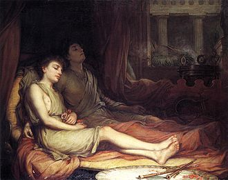 Hypnos - Hypnos and Thanatos, Sleep and His Half-Brother Death by John William Waterhouse