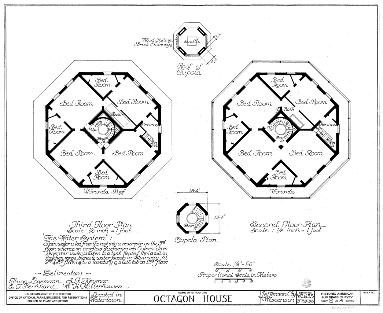 File watertown octagon house upper wikimedia for Octagon deck plans free