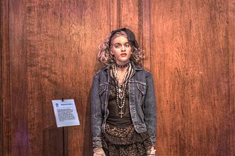 Madonna (Madonna album) - Madonna's wax statue at National Wax Museum of Ireland inspired by her style from this era.