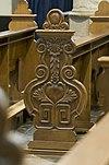 weert martinuskerk detail kerkbank