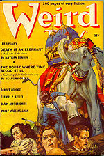 Weird Tales cover image for February 1939