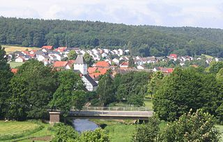 Twiste (Diemel) river in Hesse, Germany
