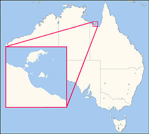 Mornington Island - Image: Wellesley Islands locator map