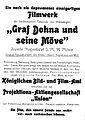 Werbeanzeige für Graf Dohna und seine Möwe aus Der Film Nummer 16 1917 Seite 71.jpg