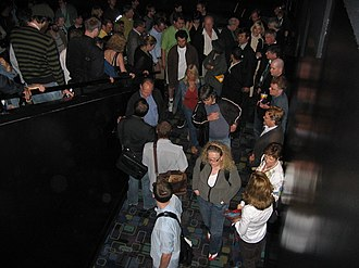 2007 Toronto International Film Festival - Werner Herzog talking with an audience member as a crowd exits an Encounters at the End of the World screening at the Paramount Theatre