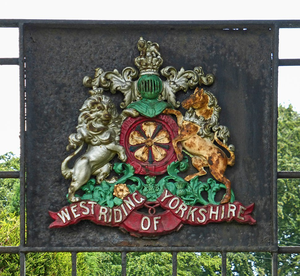 West Riding of Yorkshire coat of arms, Wetherby (Taken by Flickr user 6th July 2014)