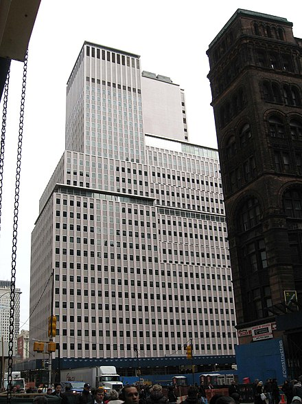WeCo HQ at 222 Broadway (until 1984) Western Electric Building, 222 Broadway jeh.jpg