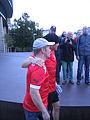 Wetten, dass - Markus Lanz läuft am 14. Oktober 2012 im Fortuna-Trikot von Düsseldorf nach Köln 2.jpg
