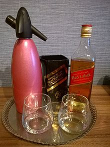 Soda syphone and whisky