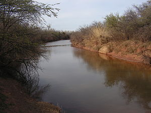 Wichita River - The Wichita River, as seen from Lucy Park in Wichita Falls, Texas