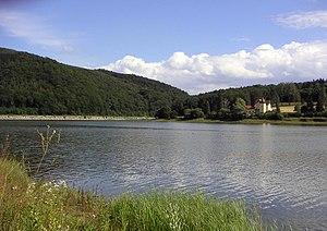 Wienerwaldsee - A view over the reservoir