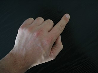 Index finger - Left human hand with index finger extended