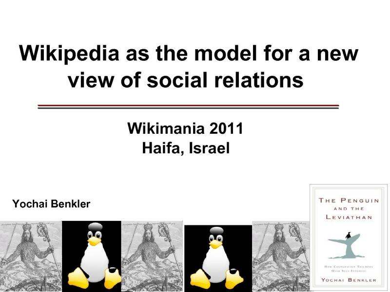 File:Wikimania 2011 - Yochai Benkler From Wikipedia to Cooperative Human Systems Design.pdf