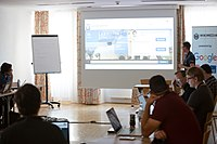 Wikimedia Hackathon Vienna 2017-05-19 Fantastic MediaWikis 010.jpg