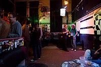 Wikimedia Hackathon Vienna 2017-05-20 Party at Arena 17.jpg