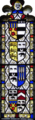 WilliamHuddesfield Died1499 19thCentury HeraldicWindow ShillingfordStGeorge Church Devon.PNG
