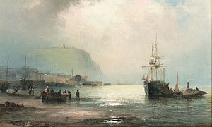 William Anslow Thornley - Low tide, Scarborough.jpg