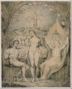 "The Archangel Raphael with Adam and Eve (Illustration to Milton's ""Paradise Lost"")"