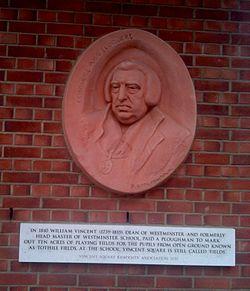 Photo of William Vincent terracotta plaque