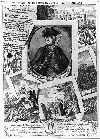 "Prince William, Duke of Cumberland - ""The Highlanders Medley"", or ""The Duke Triumphant"""