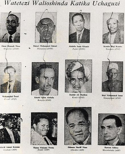 Paper shows photos of ex-government officials defaced after the revolution