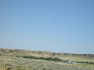 Petroleum County, Montana - Winnett Rims from the Highway