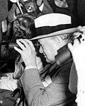 Winston Churchill at Hialeah Park horse race, Hialeah, Florida (1946).jpg